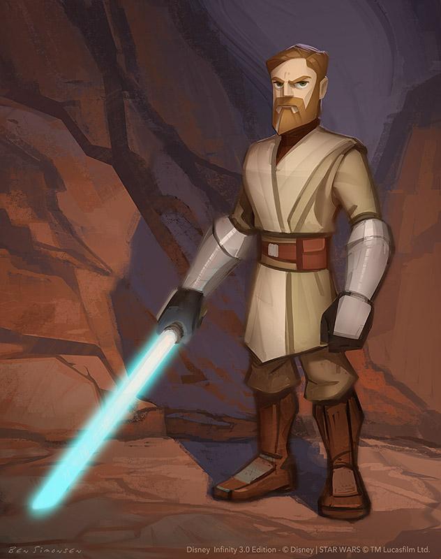 Bs Llustration Blog Star Wars Disney Infinity 3 0 Obi Wan Figure Design