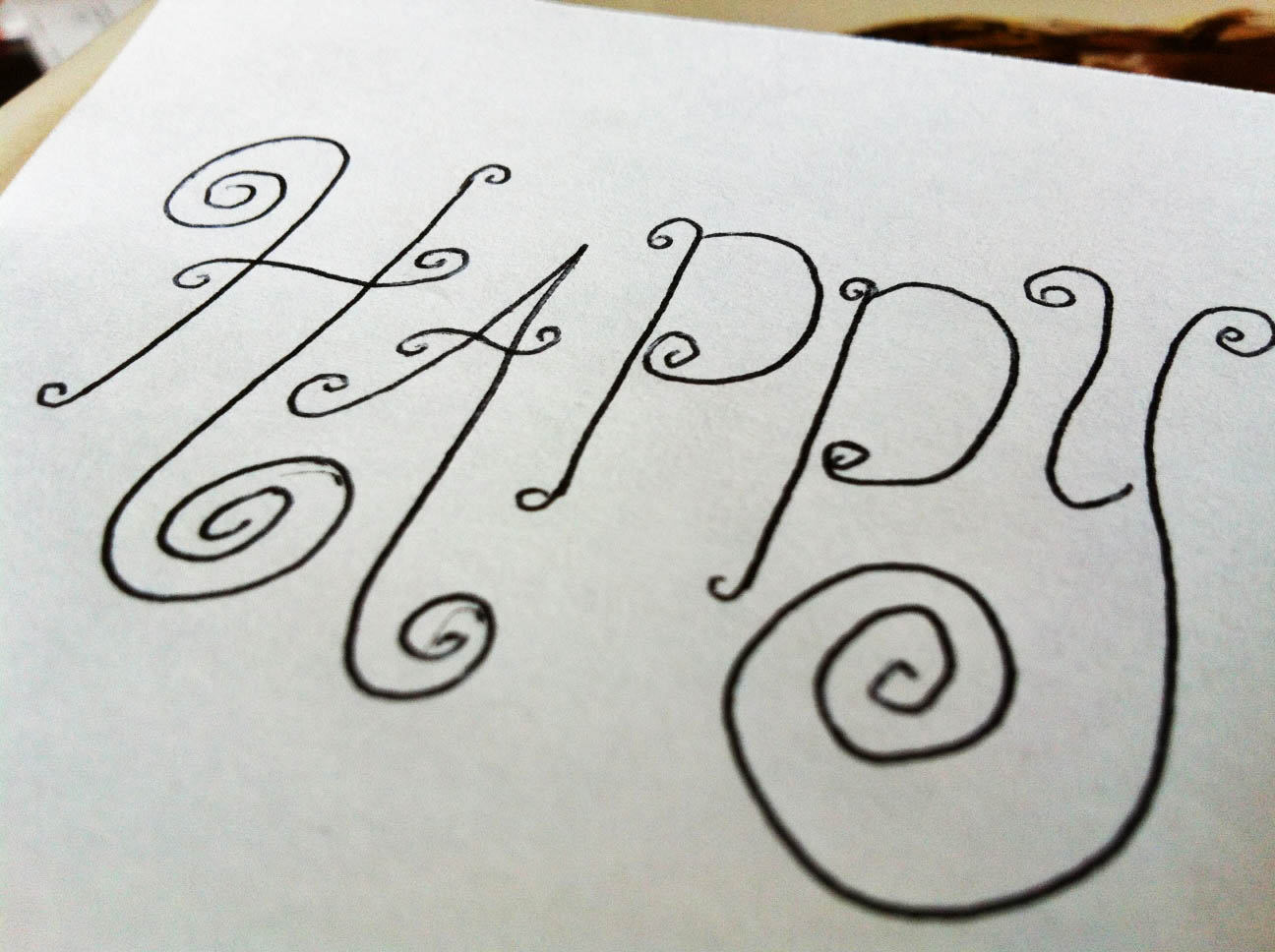 The Happy Homebo S Hand Lettering