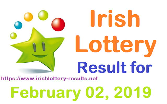 Irish Lottery Results for Saturday, 02 February 2019