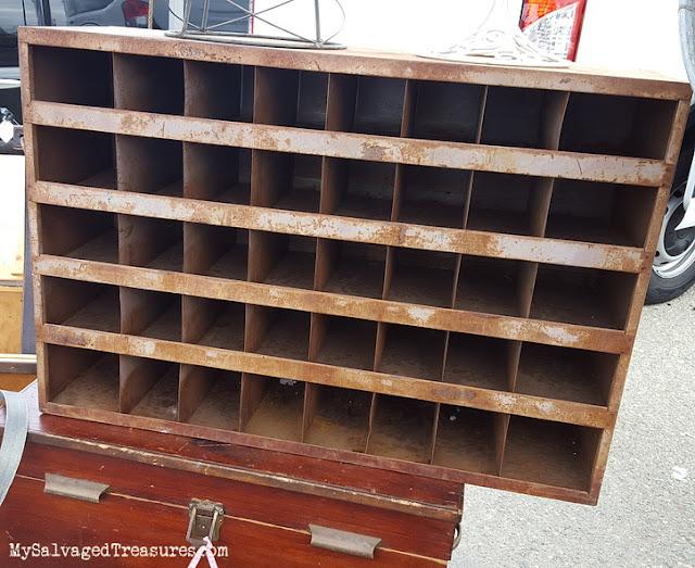vintage storage cubby