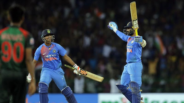 Nidahas Trophy Final - India beat Bangladesh by four wickets
