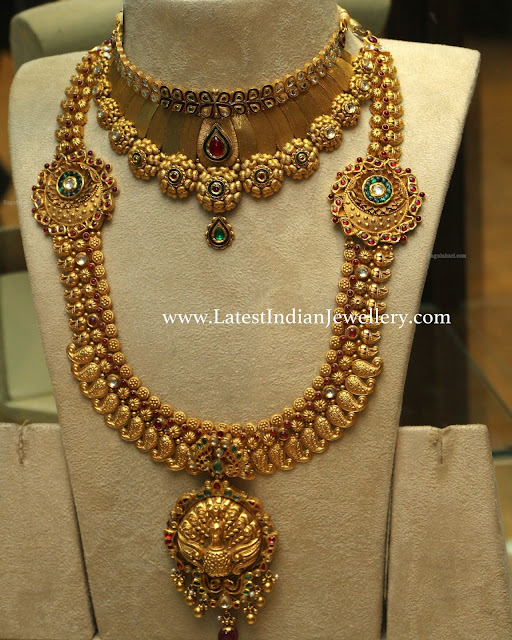 Antique Choker Mango Haram Set