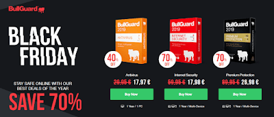 70% OFF BullGuard Premium Protection, Internet Security, Antivirus discount coupon codes, black friday sales