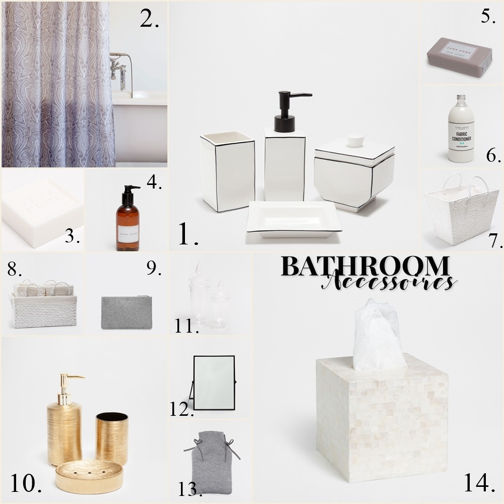 Bathroom Accessoires and Decoration Stuff - Collage