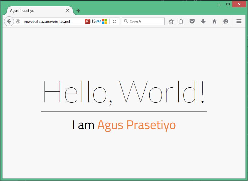 Upload Website ke Microsoft Azure Web App dengan FTP