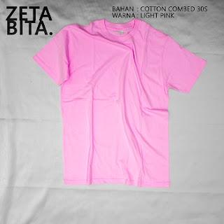 Kaos Polos Merah Muda - Zetabita