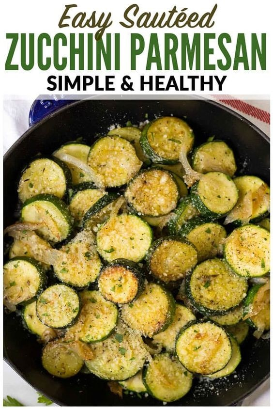 Easy Sautéed Zucchini With Parmesan