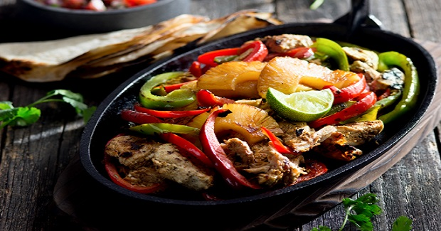 Ras El Hanout Spiced-Chicken And Pineapple Fajitas With Pico De Gallo Recipe