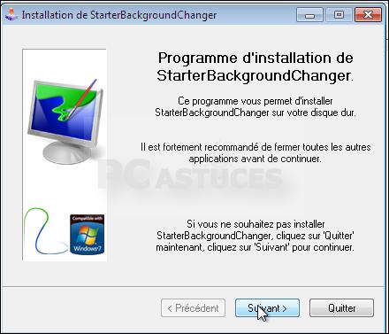 كيف تغير الخلفية على وندوز سفن 7 ستارتر Windows Seven 7