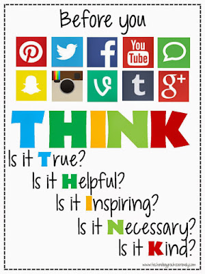 THINK before posting image via www.technologyrocksseriously.com