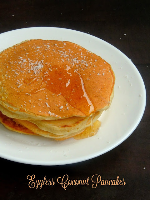 Eggless Coconut Pancakes,Coconut Pancakes