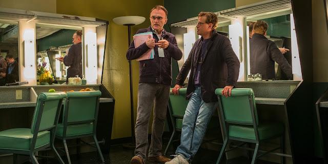 Danny Boyle y Aaron Sorkin en el set de Steve Jobs (2016)