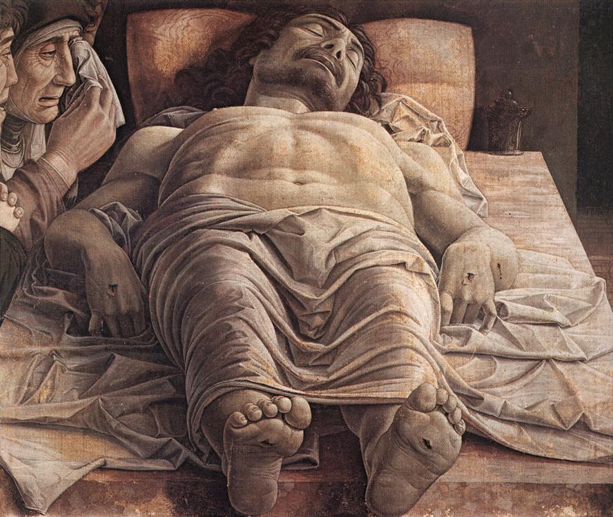 Imagen con Jesús yacente antes de resucitar