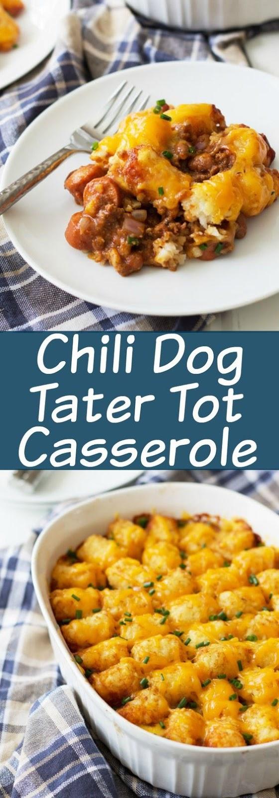 CHILI DOG TATER TOT CASSEROLE