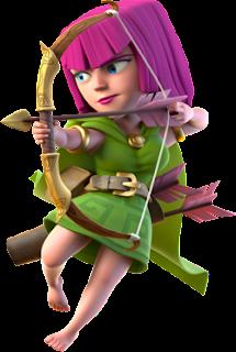 biaya dan statistik archer clash of clans