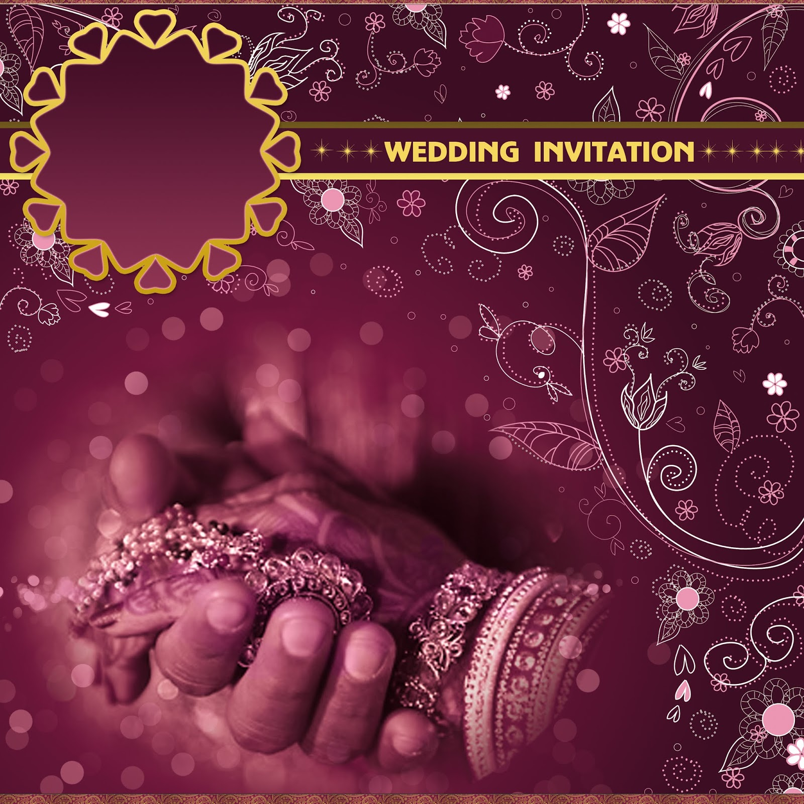 Newhindifont In Free Online Indian Wedding Card Templates