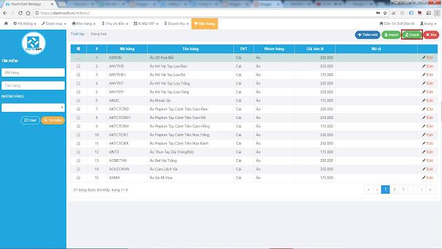 Hướng dẫn Nhập - Xuất - Tồn Kho phần mềm quản lí bán lẻ Dân Trí Soft phiên bản Online