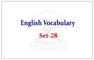 English Vocabulary Set-28 (with meaning and example)
