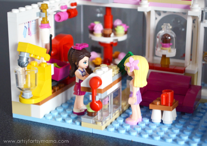 LEGO Friends Heartlake Cupcake Café at artsyfartsymama.com