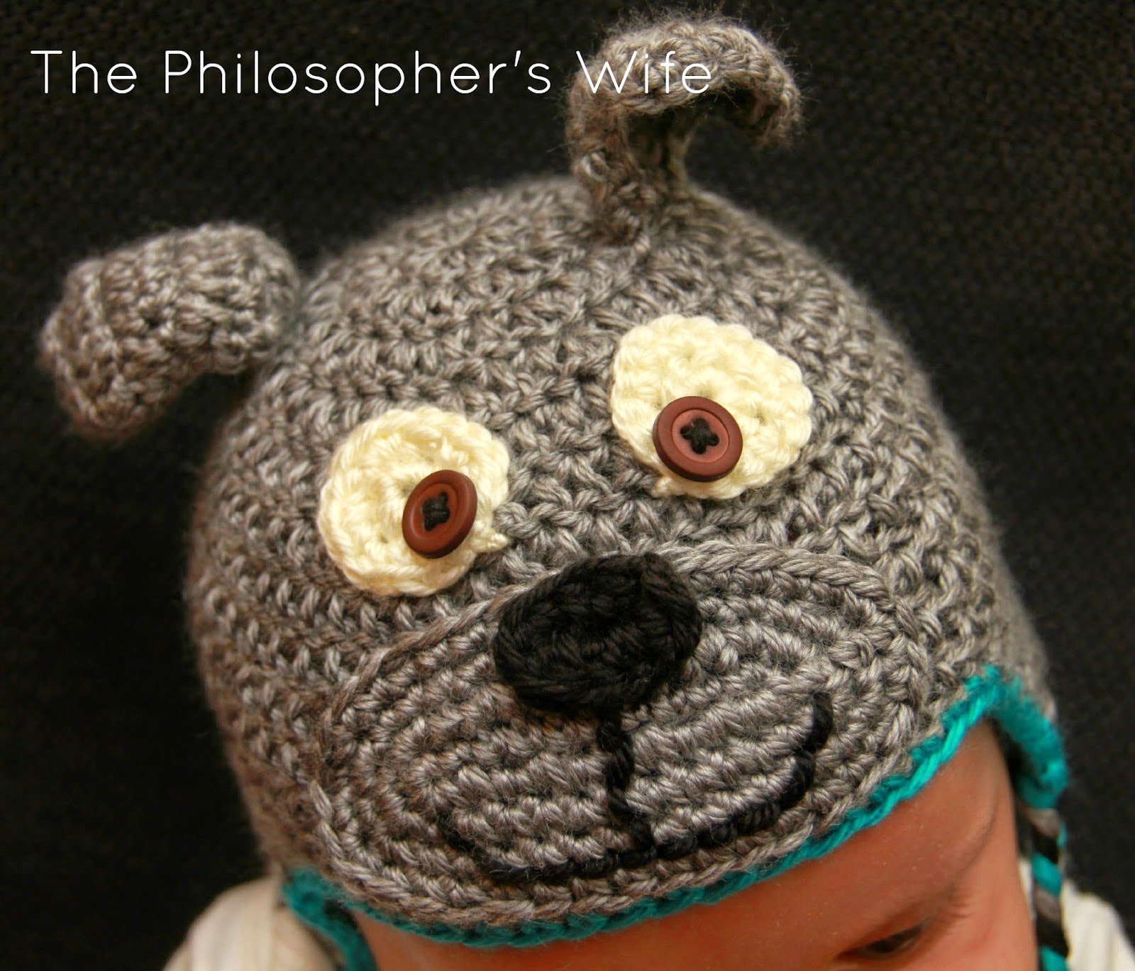 b3f58fa4352 The Philosopher s Wife  A Crochet Project  Baby Bulldog Hat