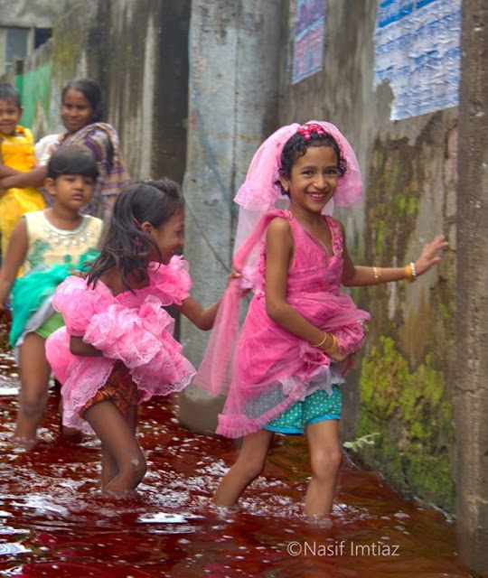 Bengali Terrorist Children play in Blood