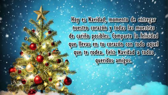 Frases y Imágenes de Feliz Navidad y Próspero Año Nuevo mis Amigos