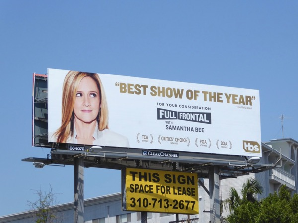 Samantha Bee Best show of year Emmy billboard