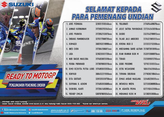 Daftar Pemenang Suzuki Ready To MotoGP