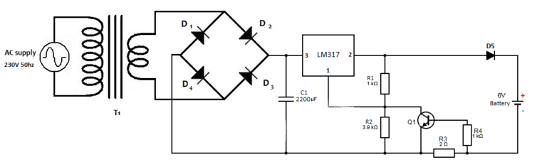 6v Lead Acid Battery Charger Circuit on current limiting resistor equation