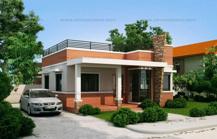 10 bungalow single story modern house with floor plans for House garage design philippines