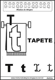 Alfabeto ilustrado letra T