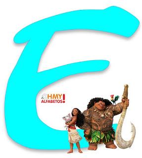 Alfabeto de Moana con Maui, Heihei y Pua.  Moana's Alphabet with Maui, Heihei and Pua.