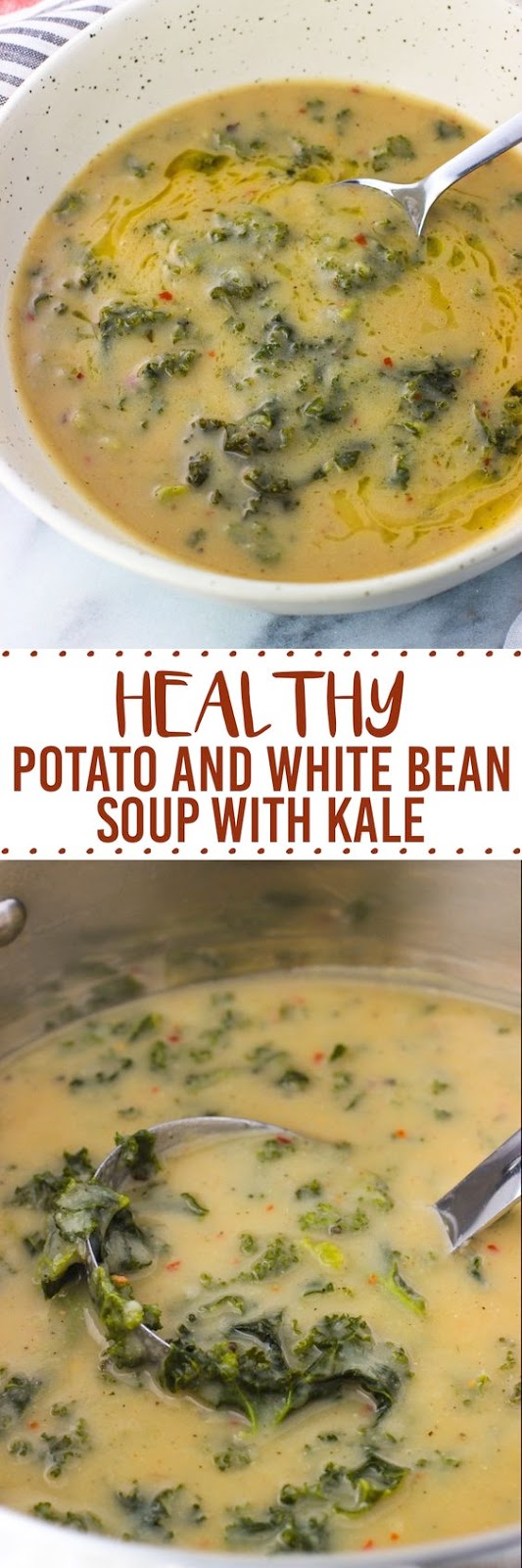 Potato and White Bean Soup with Kale(Keto-Low Carb)