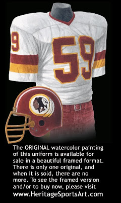 Washington Redskins 1982 uniform
