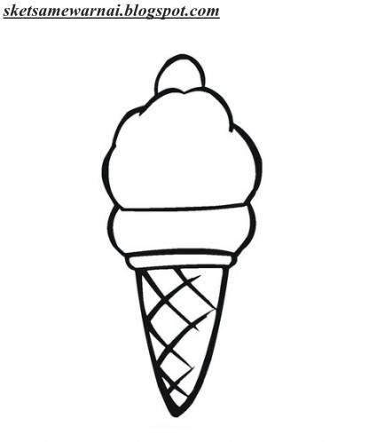 Catatanku Anak Desa Gambar Es Krim Cone Untuk Mewarnai