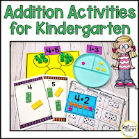 Addition Activities and Worksheets for Kindergarten