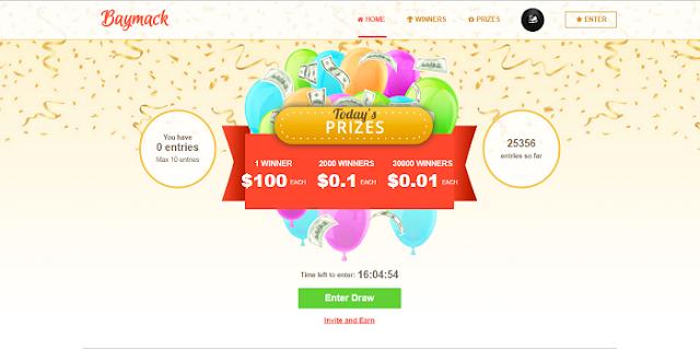Cara Mendapatkan dollar gratis dari situs Baymack