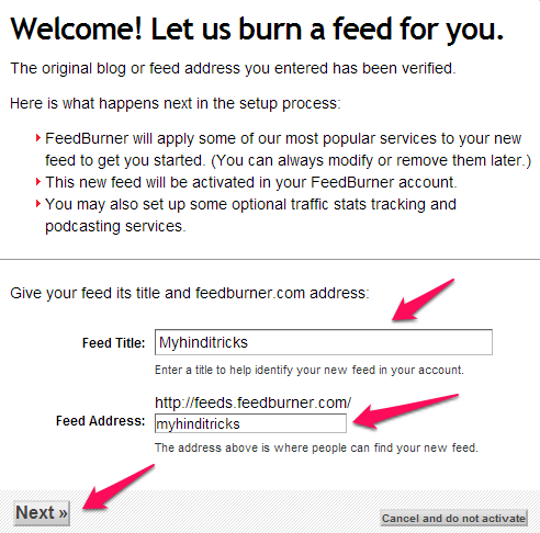 feedburner-me-account-kaise-kare