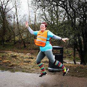 Today I ran My First Half Marathon : Jumping for joy... GroupRun Blackburn Celebration Run (Winter Plan)