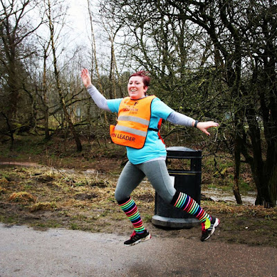 Today I ran My First Half Marathon : Jumping for joy... GroupRun Blackburn Celebration Run (Winter Plan)