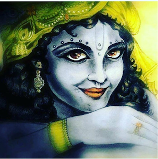 Awesome Painting of Lord Krishna without Bansuri