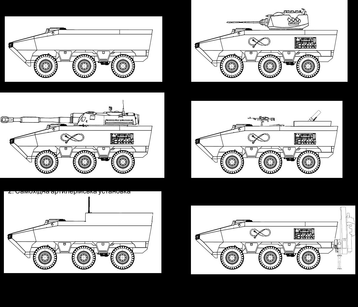 Базове колісне шасі (БТР) 6х6 «Отаман»