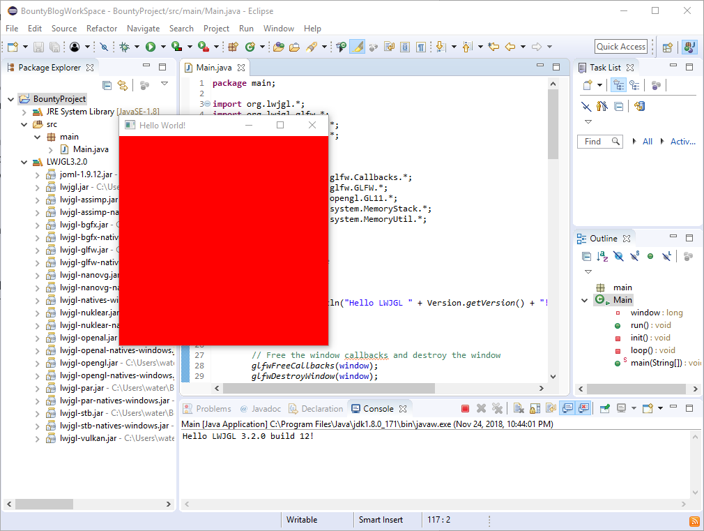 Step 1 - How to set up LWJGL/OpenGL with Eclipse