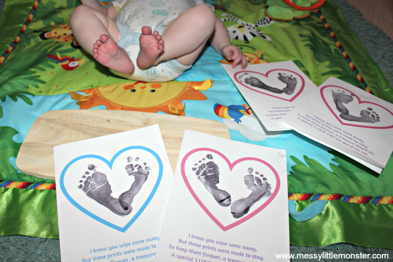 baby footprint craft and poem