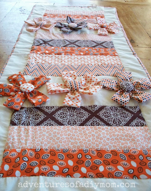 How to Make a Table Runner with Fabric Flowers