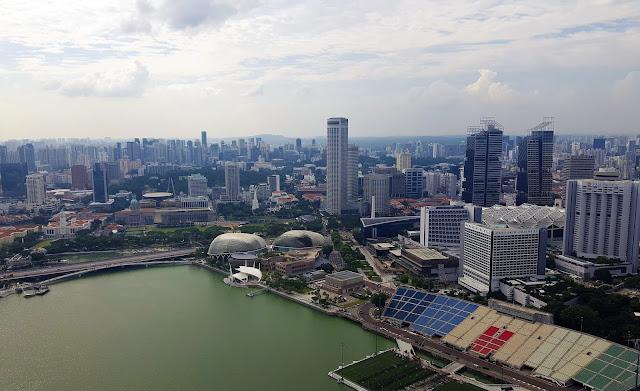 Marina Bay Sands Hotel- view from de Observation Deck