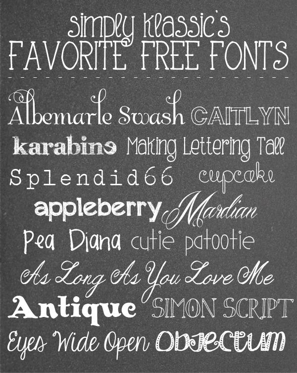 favorite+free+fonts+2013