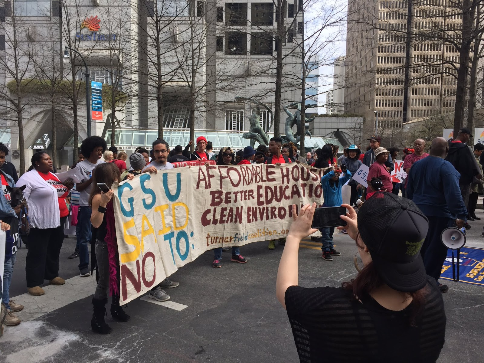 Residents and Students Organizing on MLK day