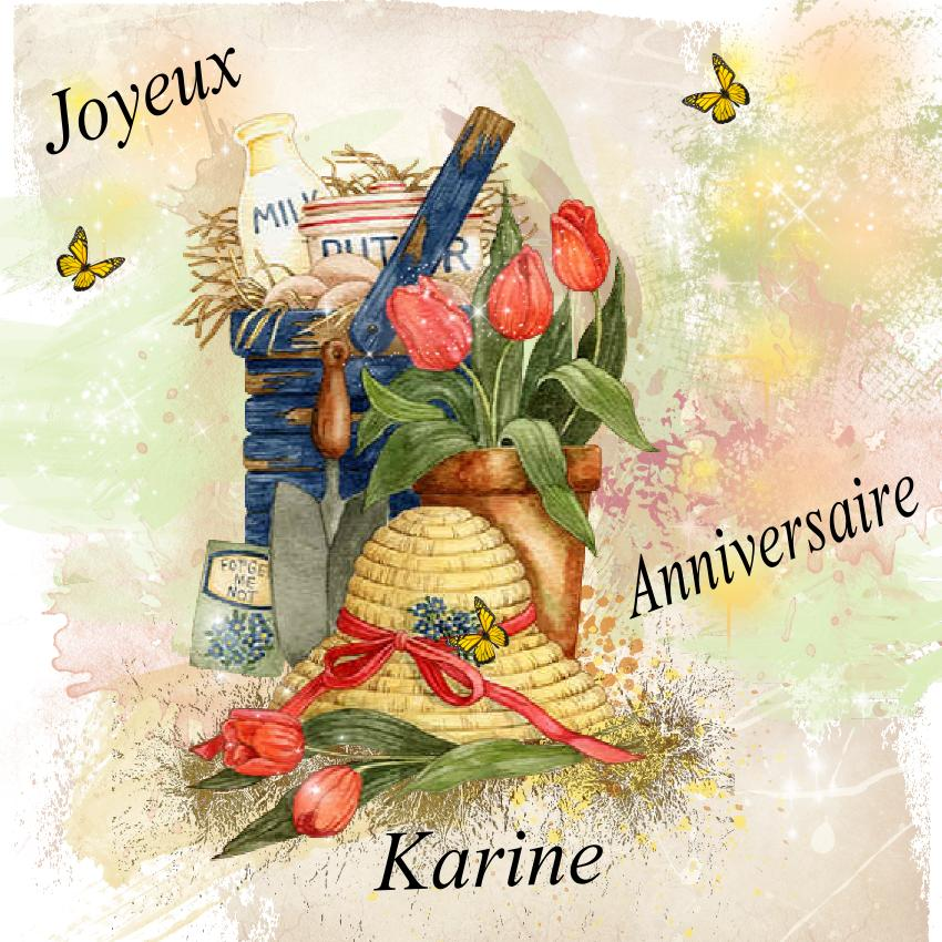 Laurette Scrap Bon Anniversaire Karine