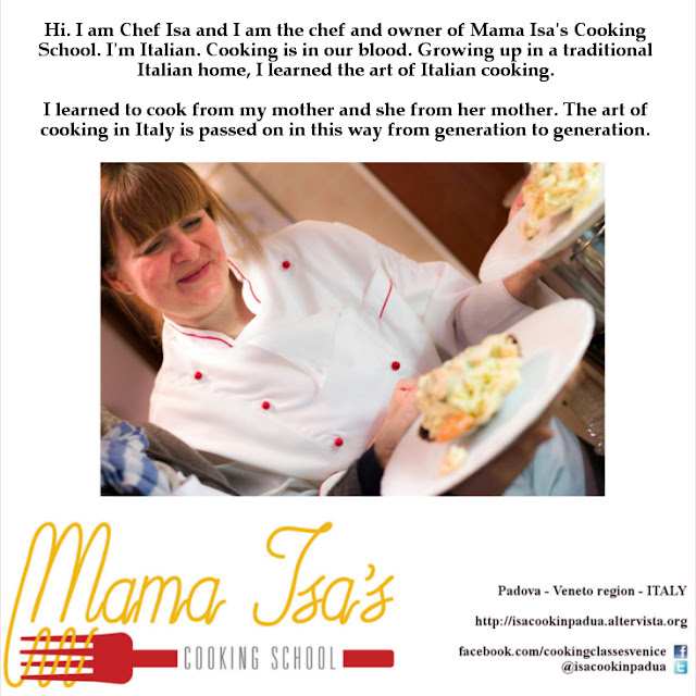 Chef Mama Isa at Mama Isa's Cooking School in Venice Italy